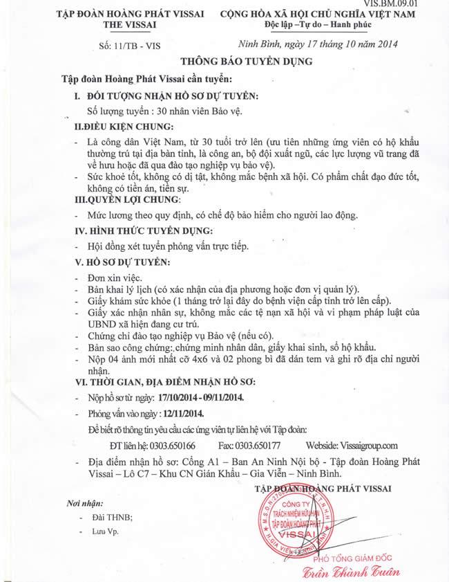 TB tuyen Bao ve ngay 12.11.2014